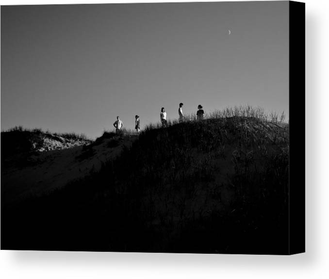 Family Canvas Print featuring the photograph On The Dune Under The Moon by Christopher Kulfan