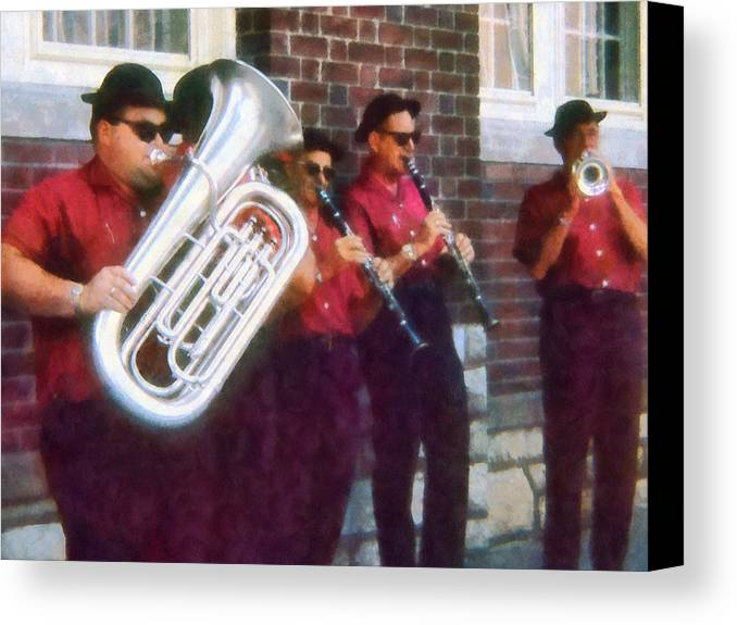 Band Canvas Print featuring the photograph Oompah Band by Susan Savad
