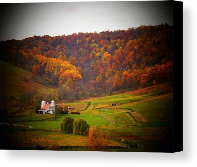 Autumn Canvas Print featuring the photograph Paris Barn In Autumn by Joyce Kimble Smith