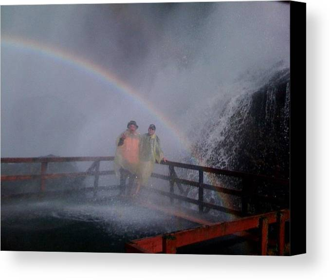 Canvas Print featuring the photograph Rainbow Crazy by Matthew Slowik