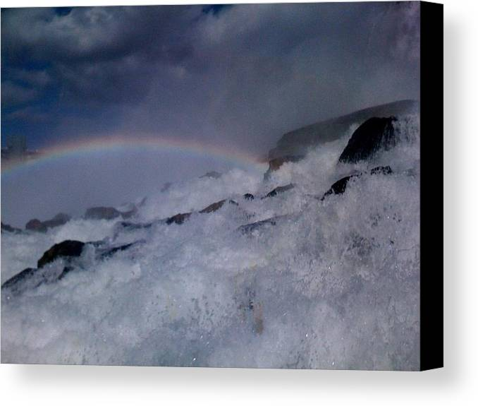 Canvas Print featuring the photograph Rainbow Falls by Matthew Slowik