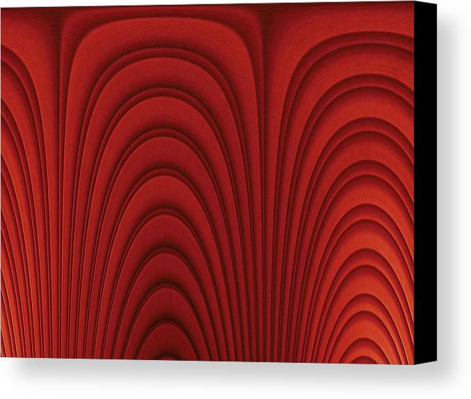 Horizontal Canvas Print featuring the digital art Red Textured Background by Medioimages/Photodisc
