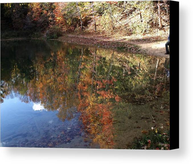 Photograph Canvas Print featuring the photograph Reflections by Dottie Gillespie