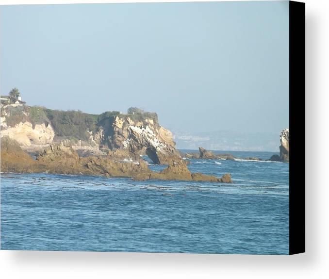 Beach Canvas Print featuring the photograph Rock Work by Jamie Diamond