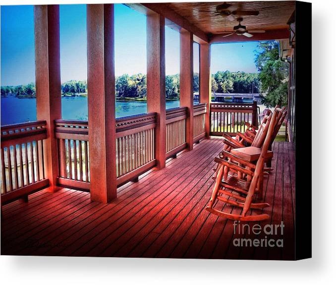 Attrayant Porch Canvas Print Featuring The Photograph Rocking Chair Porch View By  Patricia L Davidson