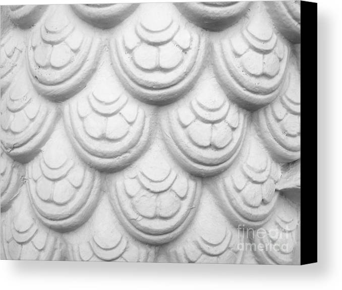 Abstract Canvas Print featuring the relief Scale Of Naga Statue by Phalakon Jaisangat