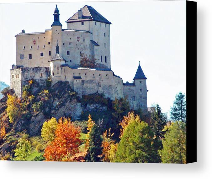 Europe Canvas Print featuring the photograph Schloss Tarasp Switzerland by Joseph Hendrix