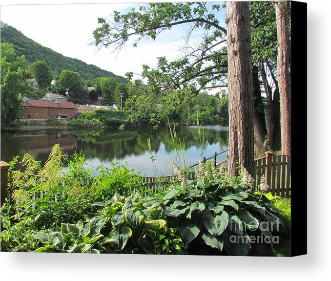 Shelburne Falls Canvas Print featuring the photograph Shelburne Falls by Randi Shenkman