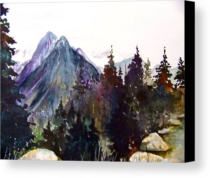 Landscape Canvas Print featuring the painting Simple Grandeur by Brenda Owen