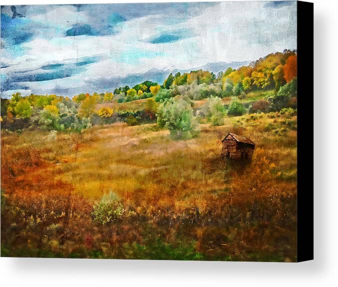 Brett Canvas Print featuring the digital art Somewhere In September by Brett Pfister