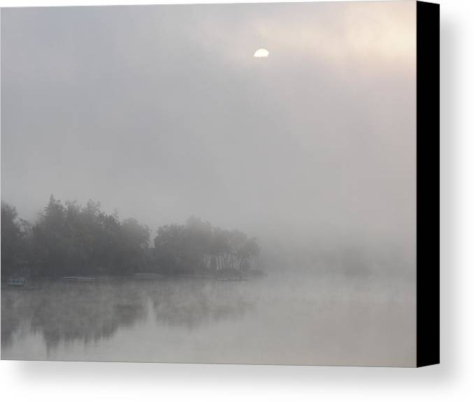 Sun Canvas Print featuring the photograph Sunrise On The Lake by Steven Huszar