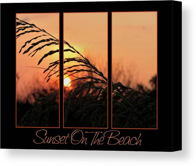Sunset On Beach Canvas Print featuring the photograph Sunset On The Beach by Carolyn Marshall