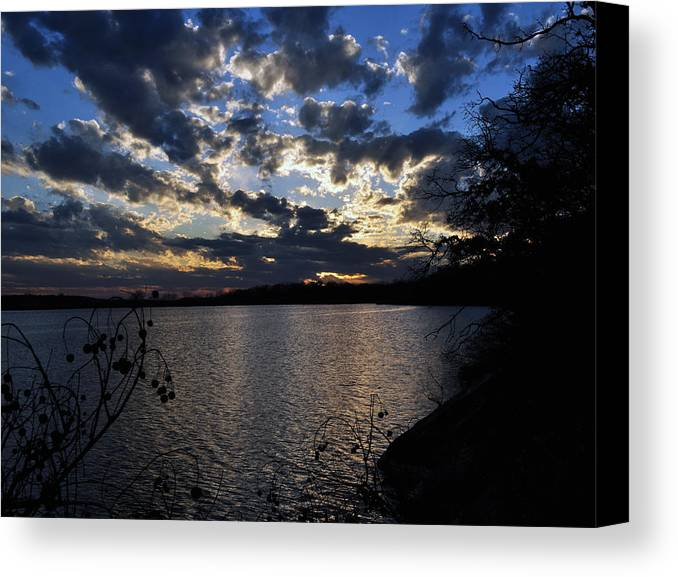 Lake Canvas Print featuring the photograph Sunset On The Lake by Timothy Johnson
