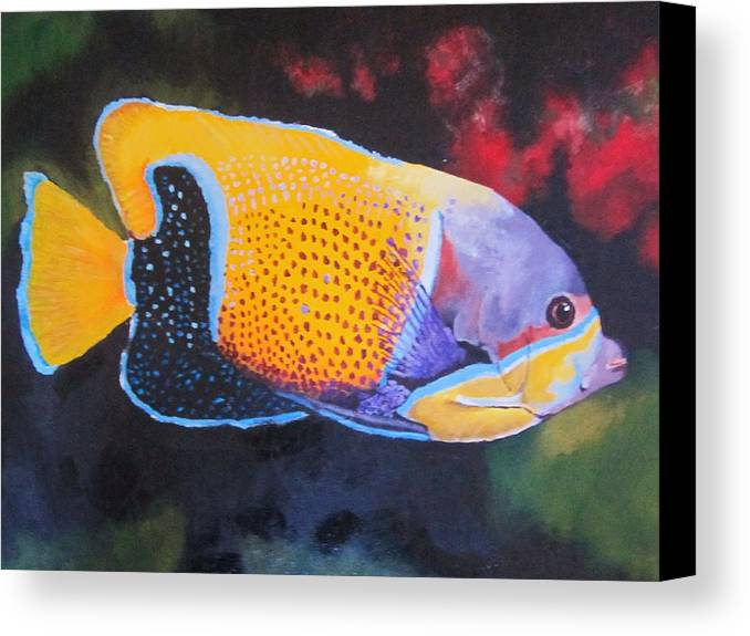 Fish Canvas Print featuring the painting Sutton Fish by Terry Gill
