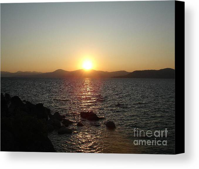 Sunset Canvas Print featuring the photograph Tahoe Sunset by Silvie Kendall