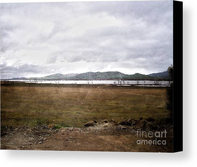 Brown Canvas Print featuring the photograph Textured Land by Joanne Kocwin