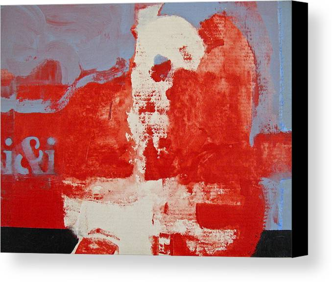 Abstract Painting Canvas Print featuring the painting The Accident by Cliff Spohn