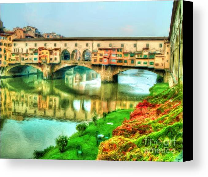 Bridge Canvas Print featuring the photograph The Bridge Of Gold by Michael Garyet