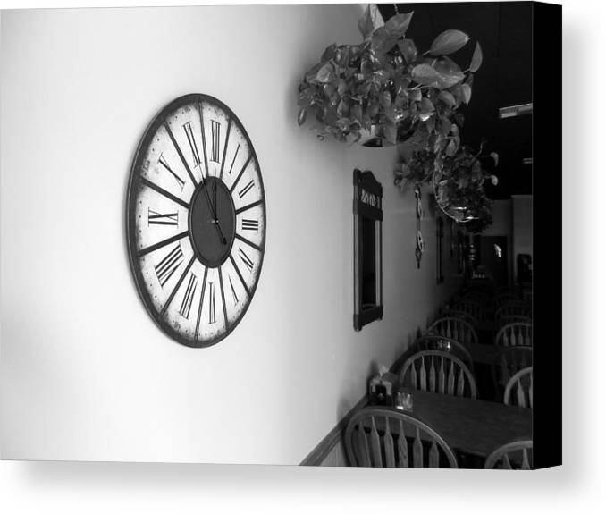 Time Canvas Print featuring the photograph The Clock by David Brown