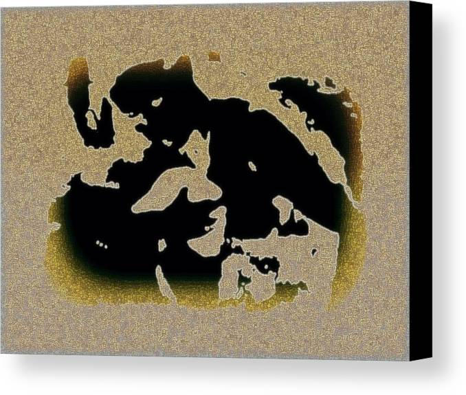 Abstract Canvas Print featuring the mixed media The Parting by YoMamaBird Rhonda
