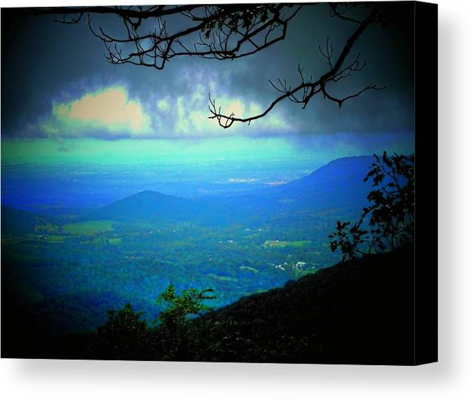 Mountain Canvas Print featuring the photograph The Valley by Michael L Kimble