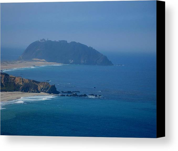 Kathy Long Canvas Print featuring the photograph The View Of California Coast by Kathy Long