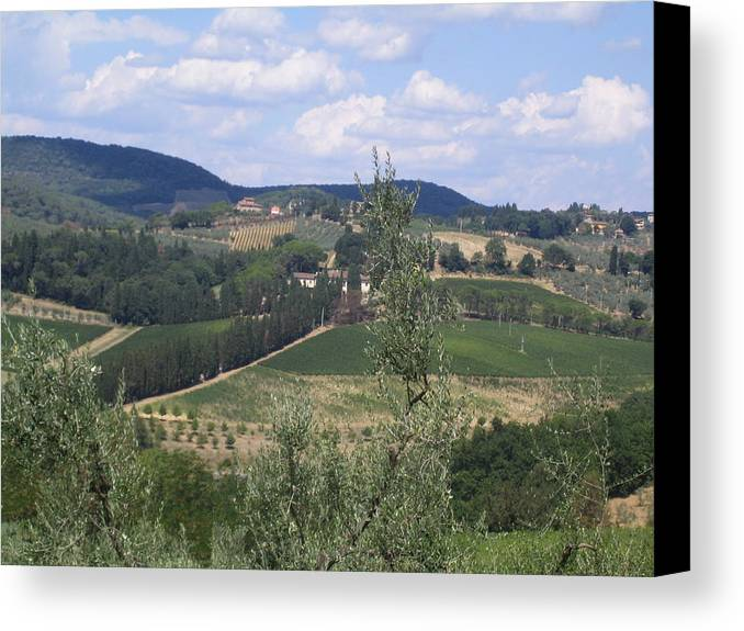 Tuscany Canvas Print featuring the photograph Tuscan Countryside by Angela Rose