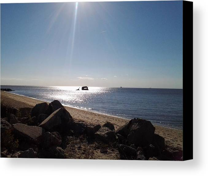 Cape May Canvas Print featuring the photograph Uss Atlantus - High Noon by Lisa A Bello