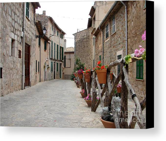 Mallorca Canvas Print featuring the photograph Valldemossa by Ana Maria Edulescu