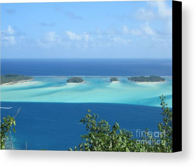 View Across Polynesia Canvas Print featuring the photograph View Across Polynesia by Paul Jessop