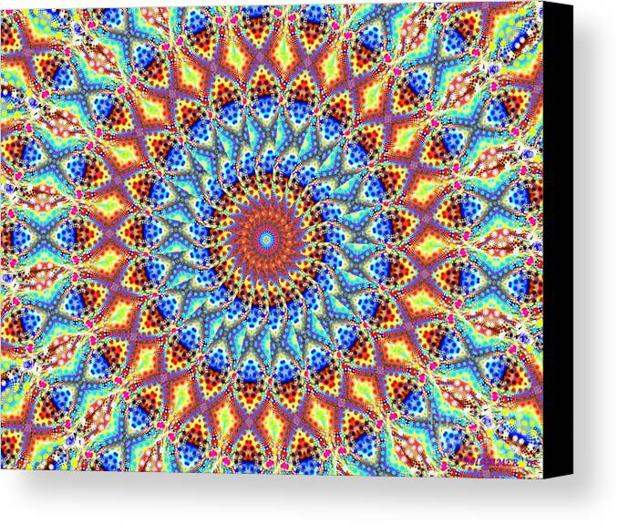 Colorful Canvas Print featuring the digital art Welcome Back My Friend by Bobby Hammerstone