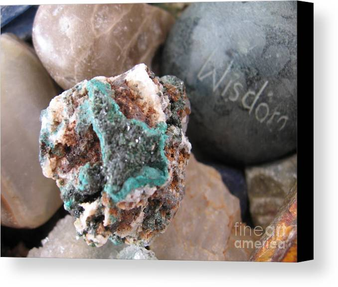 Crystals Canvas Print featuring the photograph Wisdom by Patricia Januszkiewicz