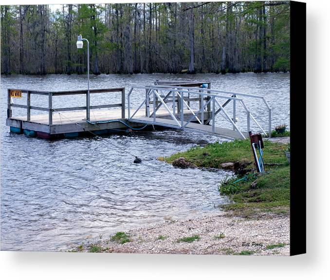 Lake Canvas Print featuring the photograph Fishing Boat Dock by Bill Perry