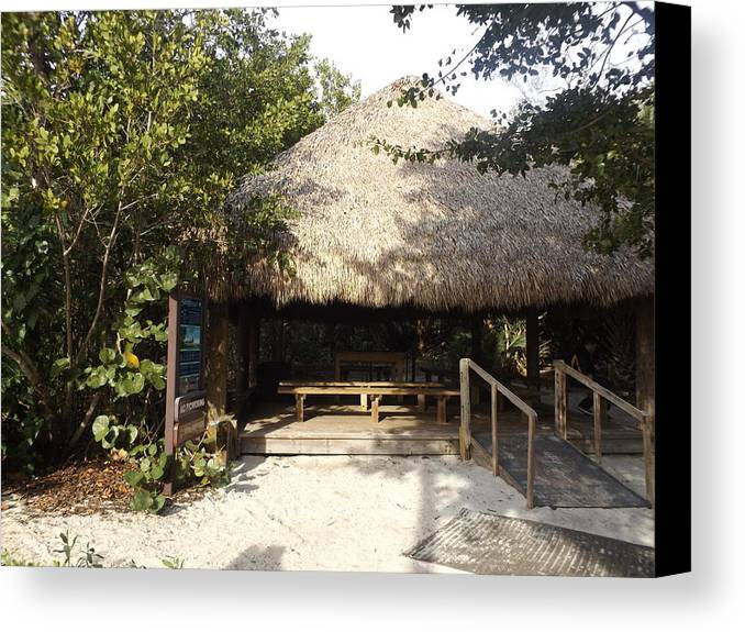 Huts Canvas Print featuring the photograph Tiki Hut by Shutter Print