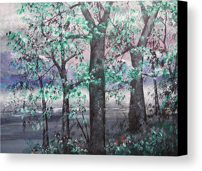 Nught Canvas Print featuring the painting A Bright Night by Dan Whittemore