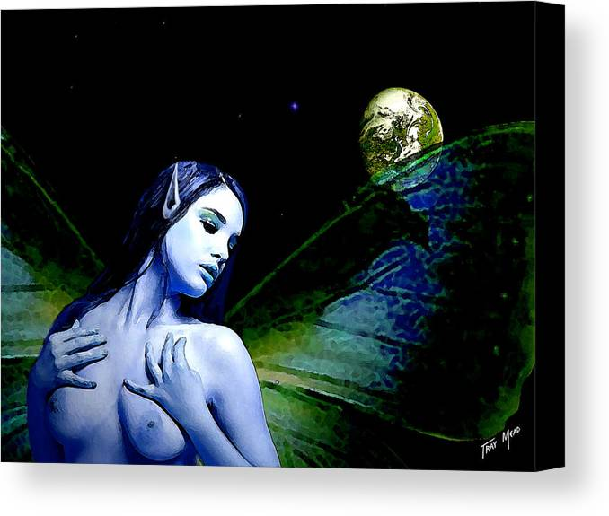 Nude Canvas Print featuring the painting A Silent Prayer by Tray Mead