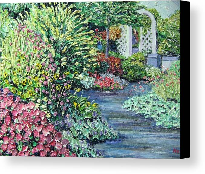 Garden Canvas Print featuring the painting Amelia Park Pathway by Richard Nowak