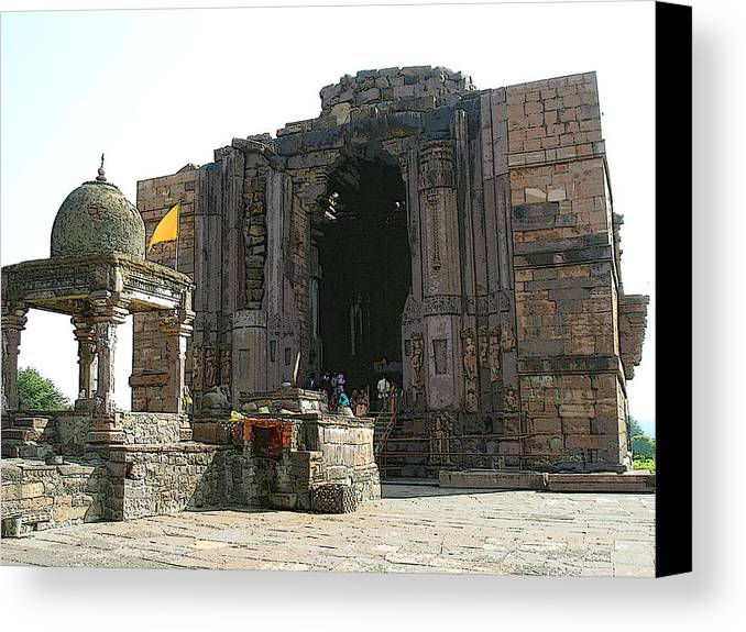Bhojpur Canvas Print featuring the photograph Bhojpur Temple by Padamvir Singh