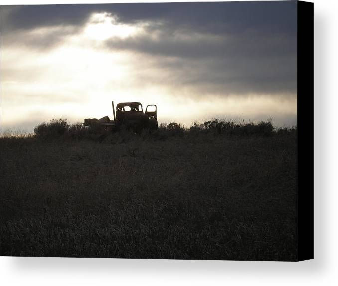 Americana Canvas Print featuring the photograph End Of The Road by Shane Hayes