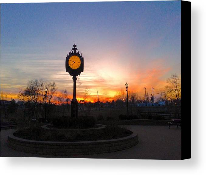 Pure Michigan Canvas Print featuring the digital art Sunset Fantasy by 2141 Photography