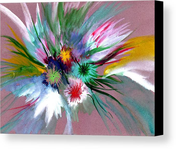 Flowers Canvas Print featuring the painting Flowers by Anil Nene