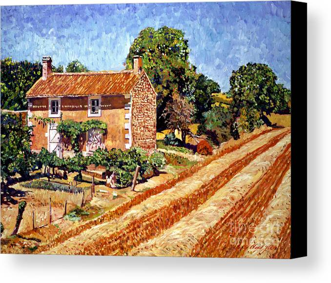 Provence Canvas Print featuring the painting Fresh Cut Hay Provence by David Lloyd Glover