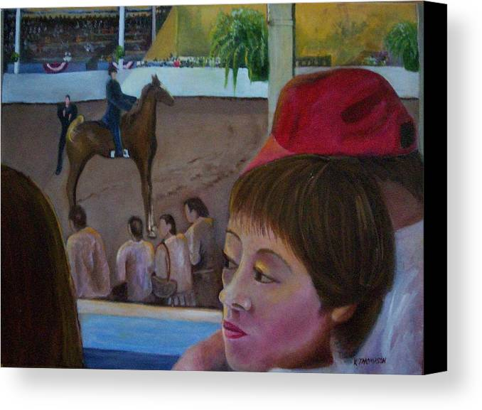 Horse Canvas Print featuring the painting Horse Show No. 1 by Karen Thompson