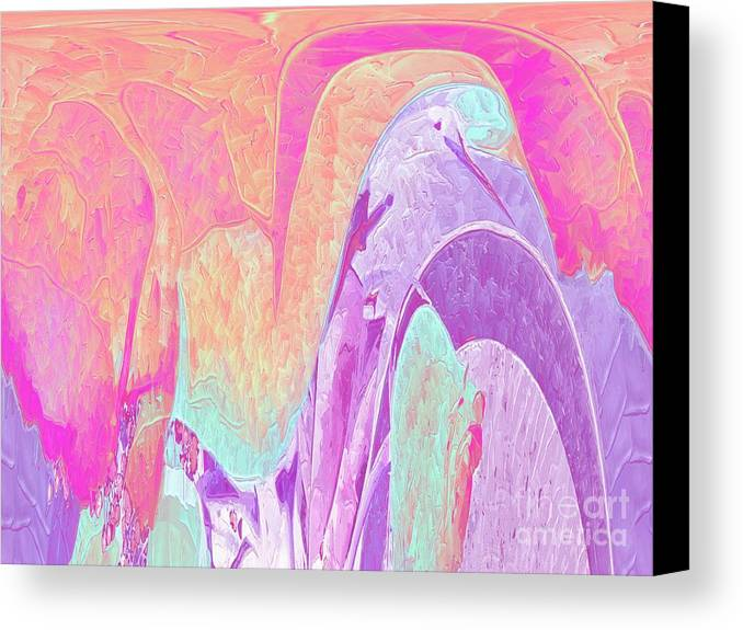 Pastel Colors Canvas Print featuring the digital art Lovely To Look At by Deborah Selib-Haig DMacq