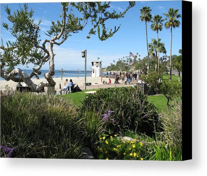 Laguna Canvas Print featuring the photograph Main Beach Laguna by John Loyd Rushing