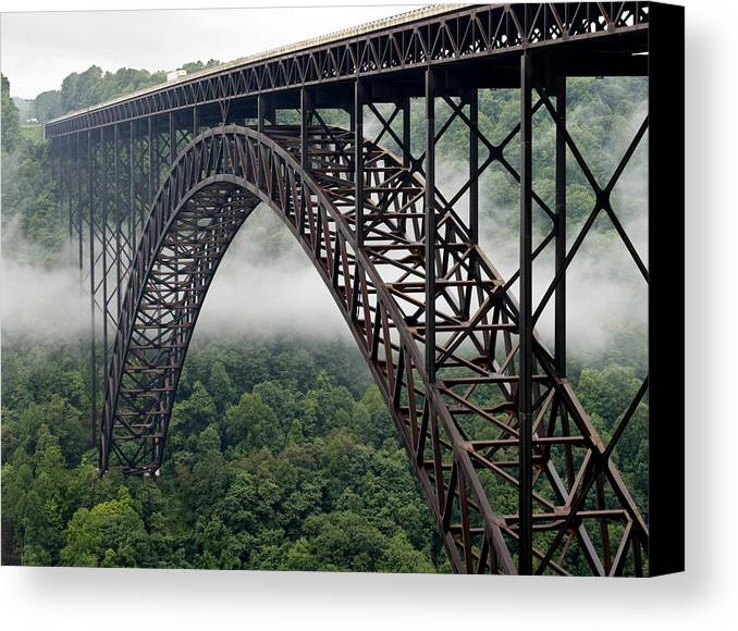New Canvas Print featuring the photograph New River Gorge Bridge West Virginia by Brendan Reals