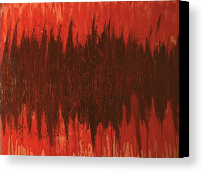 Red Canvas Print featuring the painting Pressure by Laurette Escobar