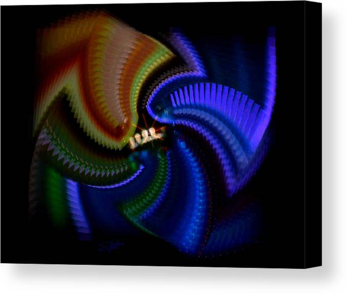 Chaos Canvas Print featuring the painting Rainbow by Charles Stuart