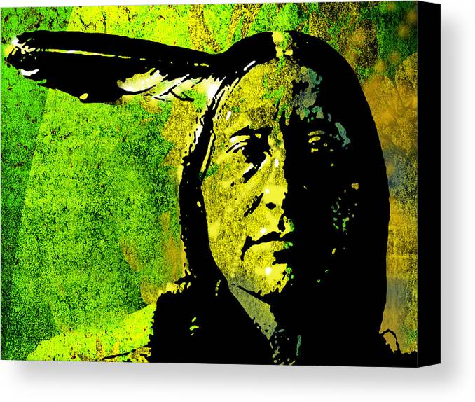 Native American Canvas Print featuring the painting Scabby Bull by Paul Sachtleben