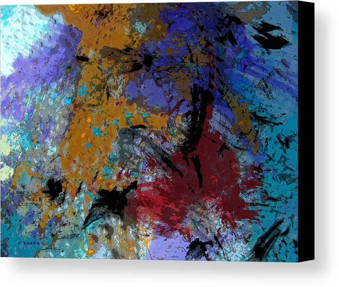 Abstract Canvas Print featuring the painting Seeing The Light by Charles Yates